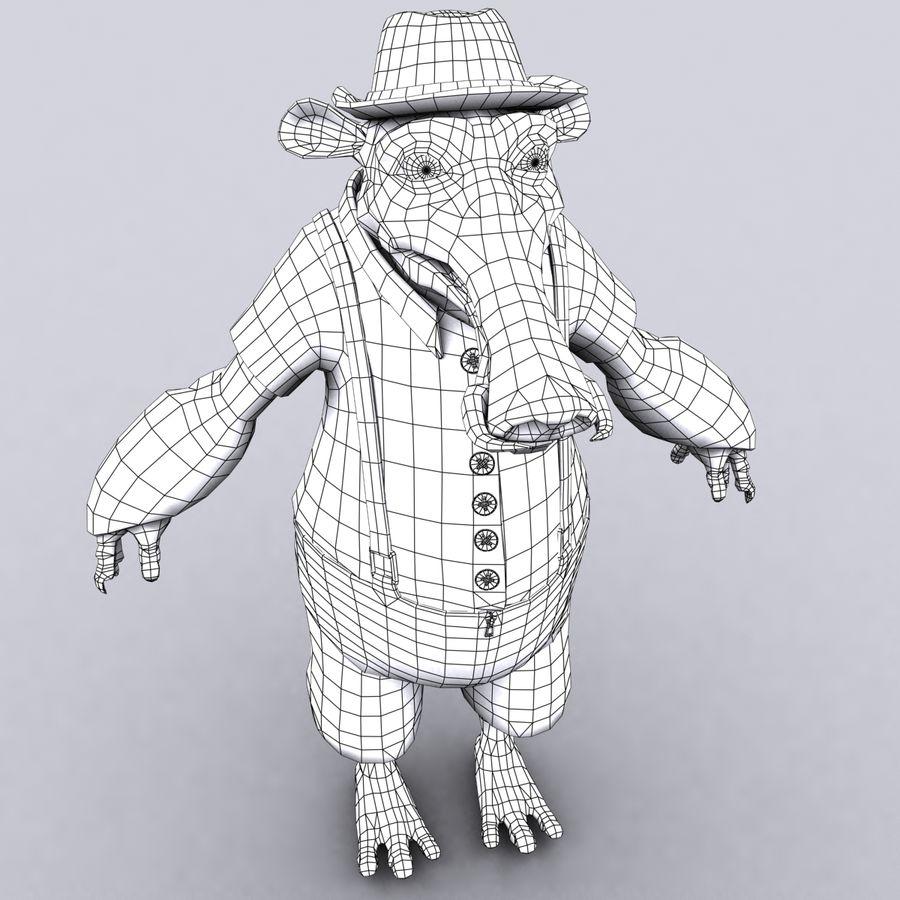 świnka royalty-free 3d model - Preview no. 16