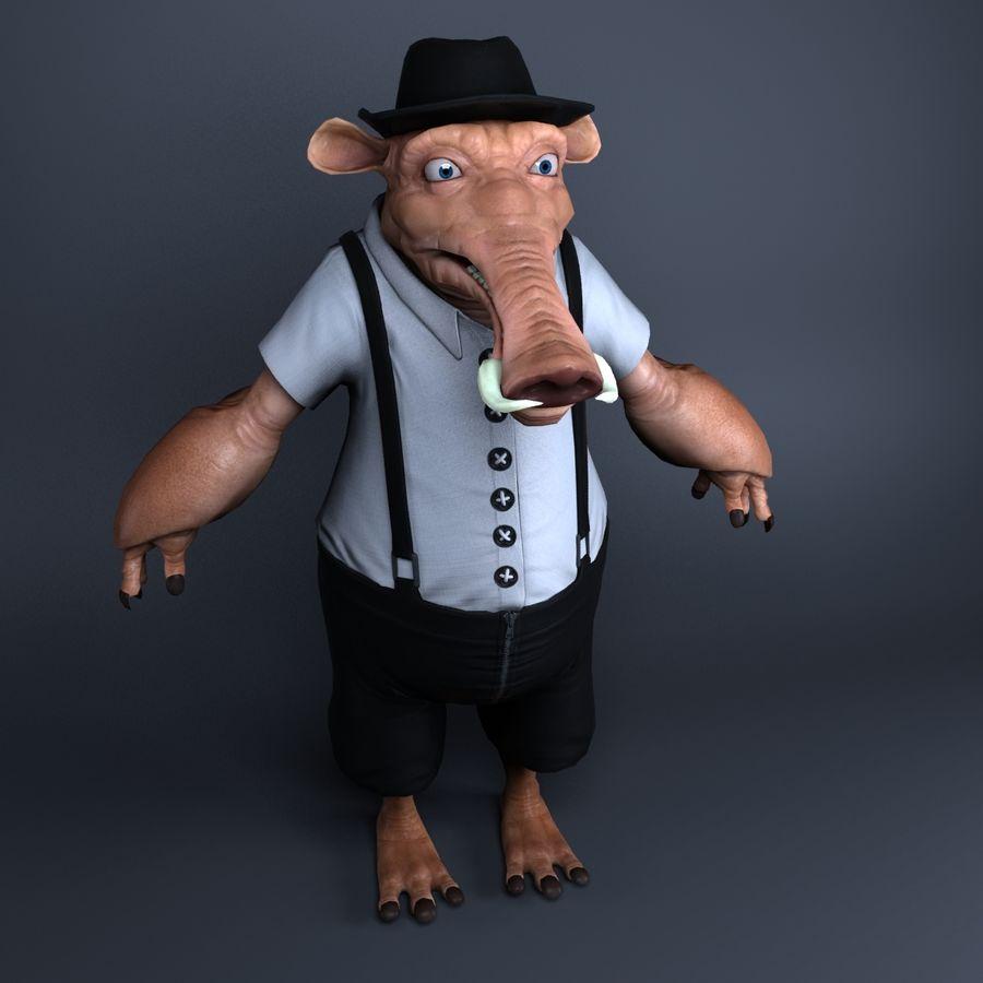 świnka royalty-free 3d model - Preview no. 1