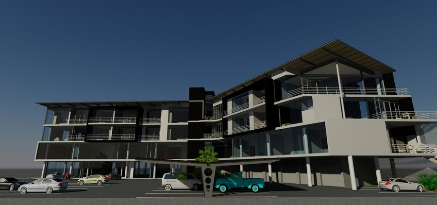 Architecture Building 34 royalty-free 3d model - Preview no. 9