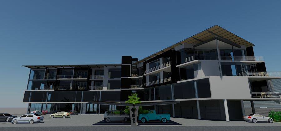 Architecture Building 34 royalty-free 3d model - Preview no. 10