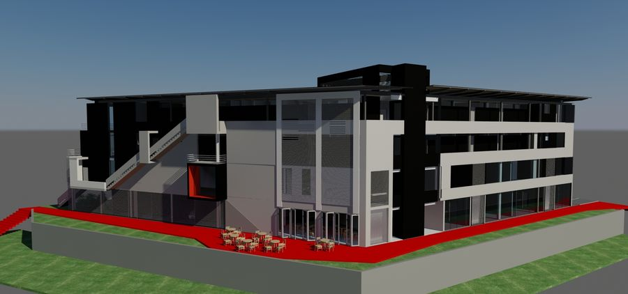 Architecture Building 34 royalty-free 3d model - Preview no. 11