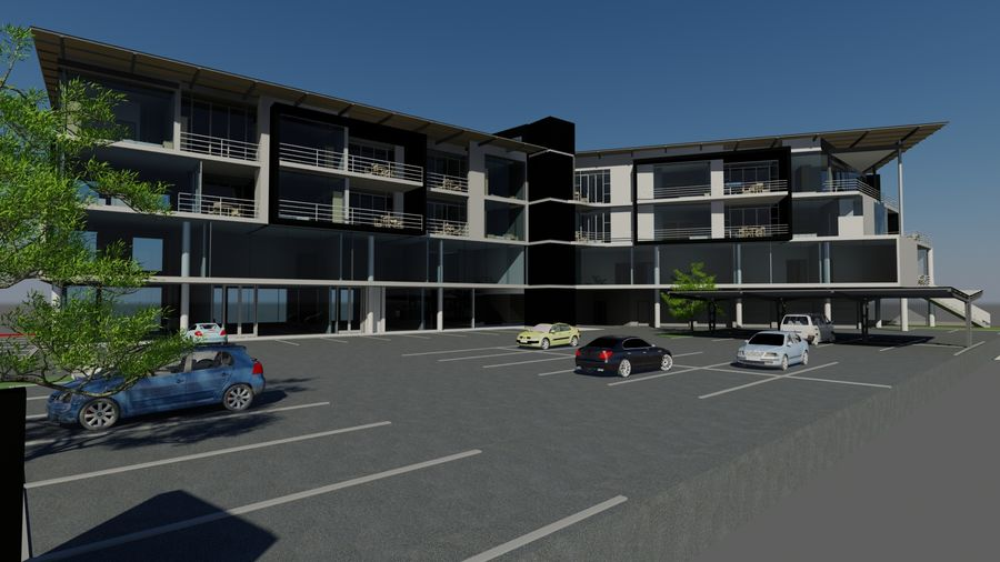 Architecture Building 34 royalty-free 3d model - Preview no. 6