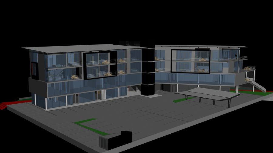 Architecture Building 34 royalty-free 3d model - Preview no. 2