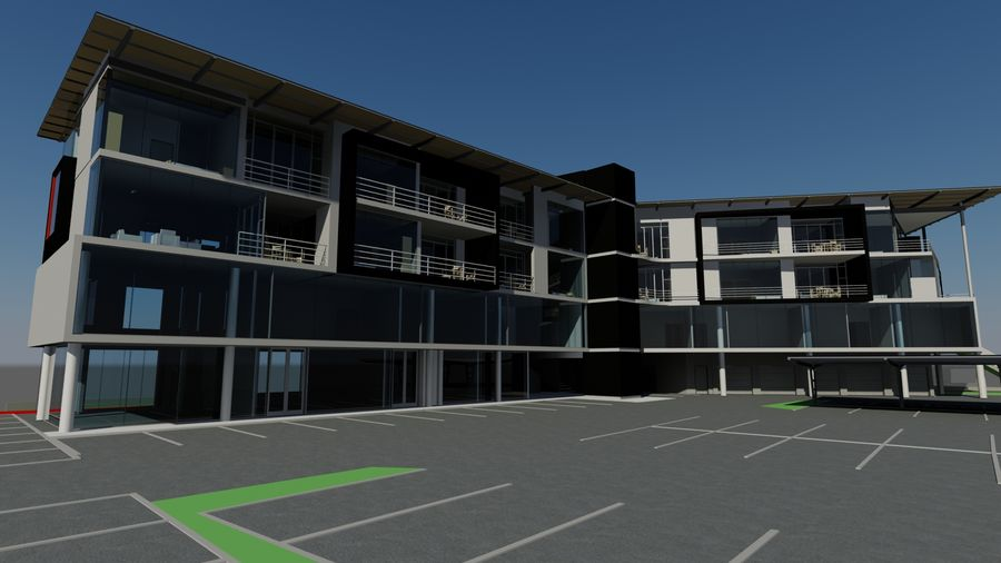 Architecture Building 34 royalty-free 3d model - Preview no. 4