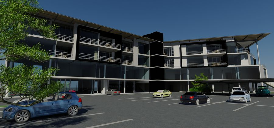 Architecture Building 34 royalty-free 3d model - Preview no. 8
