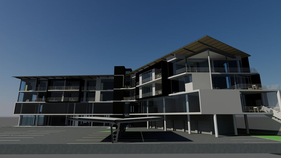 Architecture Building 34 royalty-free 3d model - Preview no. 5