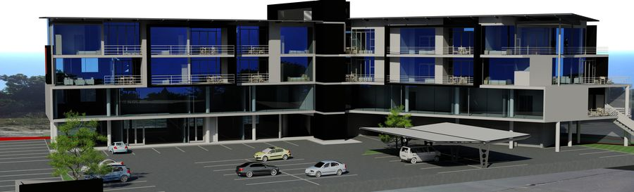 Architecture Building 34 royalty-free 3d model - Preview no. 7