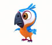cartoon papegaai 3d model