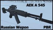 AEK A 545 Российское оружие 3d model