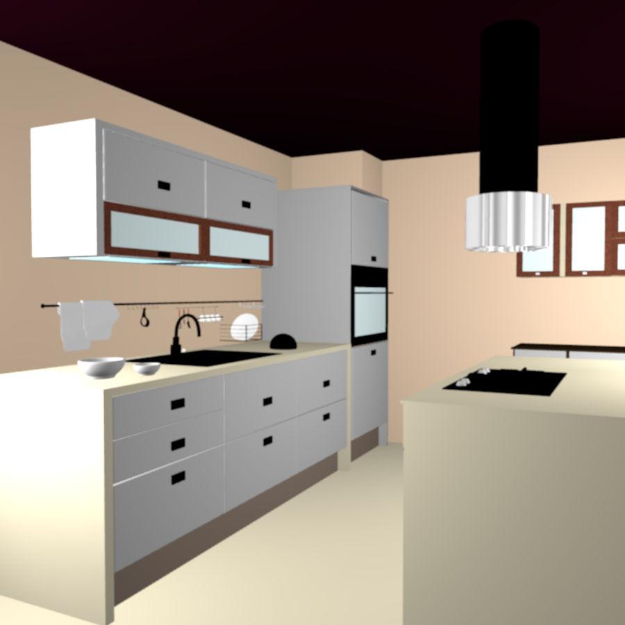 キッチン3Dモデル royalty-free 3d model - Preview no. 4
