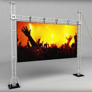 Écran LED d'échafaudage Telebim haut 3d model