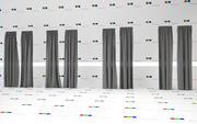 High Resolution Linen Curtains 3d model