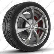 Zormer Rim and Tyre 3d model