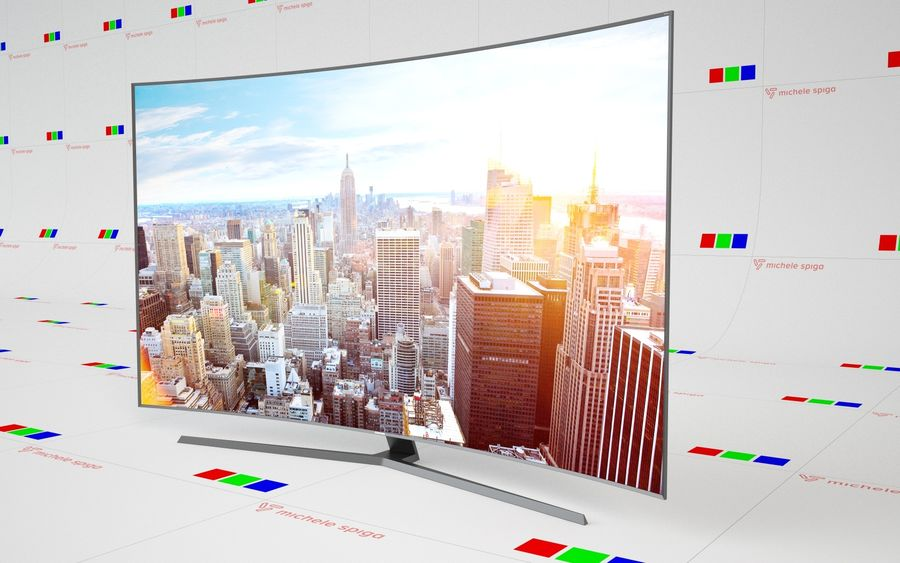 Samsung Curved TV royalty-free 3d model - Preview no. 1