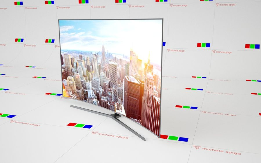 Samsung Curved TV royalty-free 3d model - Preview no. 2