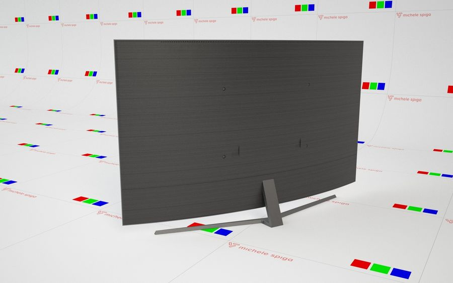 Samsung Curved TV royalty-free 3d model - Preview no. 4