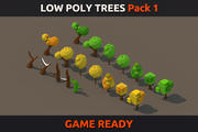 Low Poly Trees Pack 1 3d model