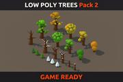 Pacchetto alberi poli basso 2 3d model