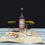 Zestaw rosyjskiej wódki 3d model