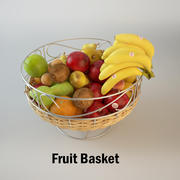 Corbeille de fruits 3d model
