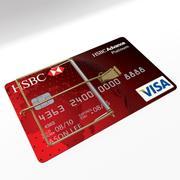 carta di credito visa 3d model
