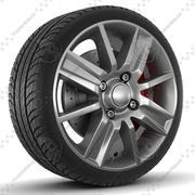 Sklad Selena Rim och Tire 3d model