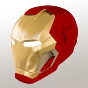 Iron Man Mark 45 fredag hjälm 3d model