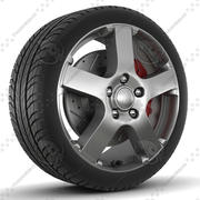Sklad Ekstrim Rim och Tire 3d model