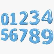 Zahlen Niedrig Poly 3d model