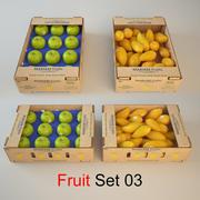 Conjunto de frutas 03 modelo 3d