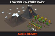 Pack Nature Low Poly 3d model