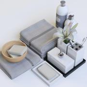 Badkamer inrichting 3d model