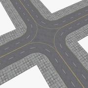 Zestaw do budowy ulic i autostrad 3d model
