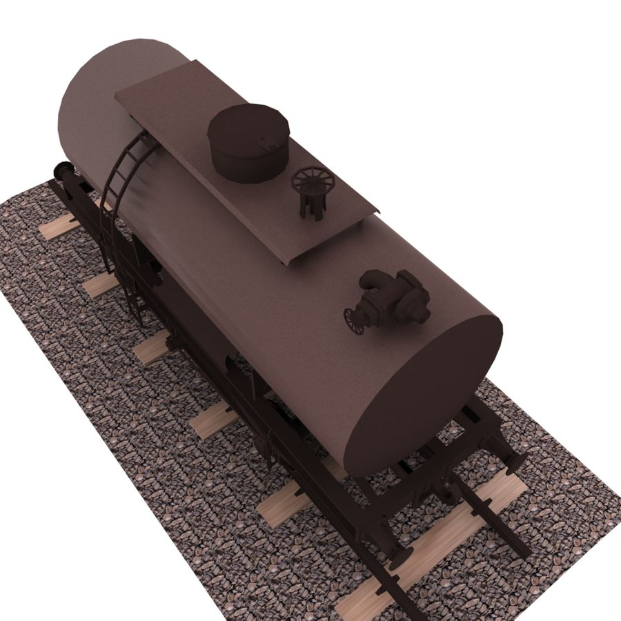 Tankwagen royalty-free 3d model - Preview no. 3