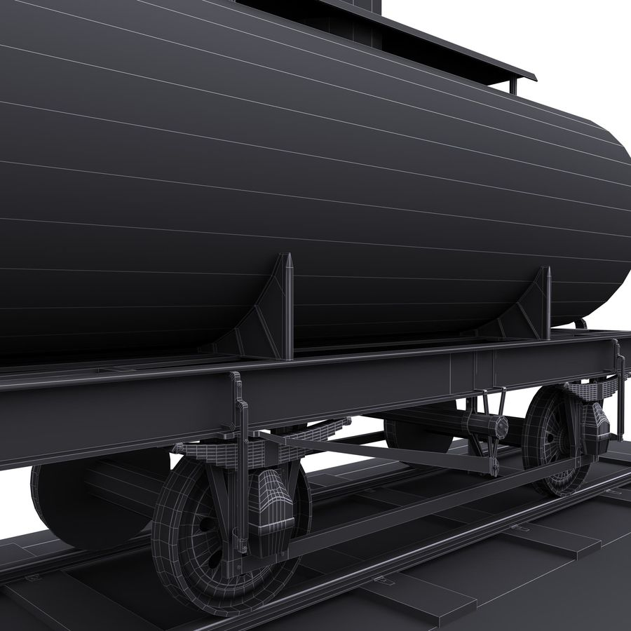 Tankwagen royalty-free 3d model - Preview no. 8
