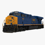 Lokomotiv ES40DC CSX Blue 3d model