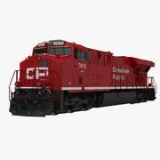 Lokomotiv ES40DC Kanadensiska Stilla havet 3d model