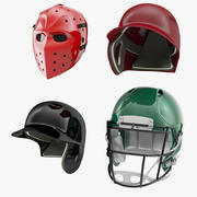 Sport Helmets Collection 3d model