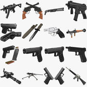 Weapons Big Collection 3d model