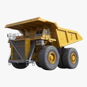 ヘビーデューティーダンプトラックジェネリックイエロー 3d model