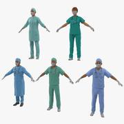 Collection de médecins truqués 3d model