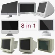 Apple monitoren 3D-modellen-collectie 3d model