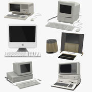 Retro Apple Computers 3D Models Collection 3d model