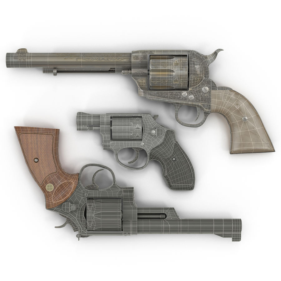 Revolvers-collectie royalty-free 3d model - Preview no. 2