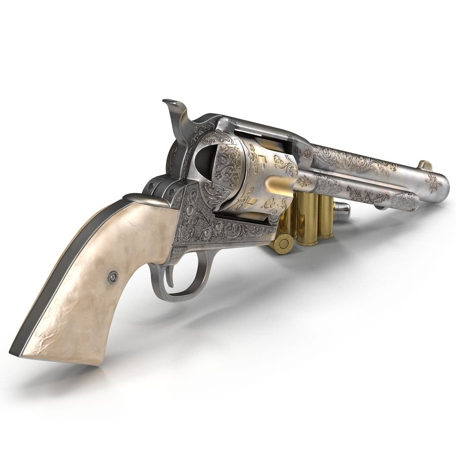 Revolvers-collectie royalty-free 3d model - Preview no. 25