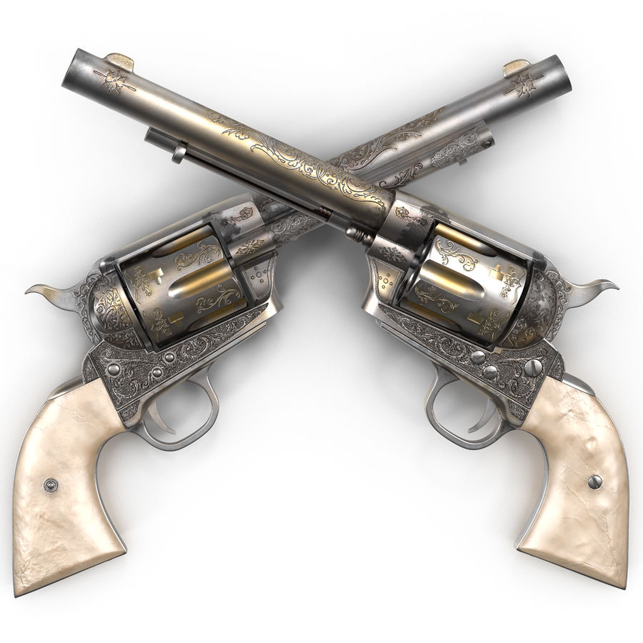 Revolvers-collectie royalty-free 3d model - Preview no. 7