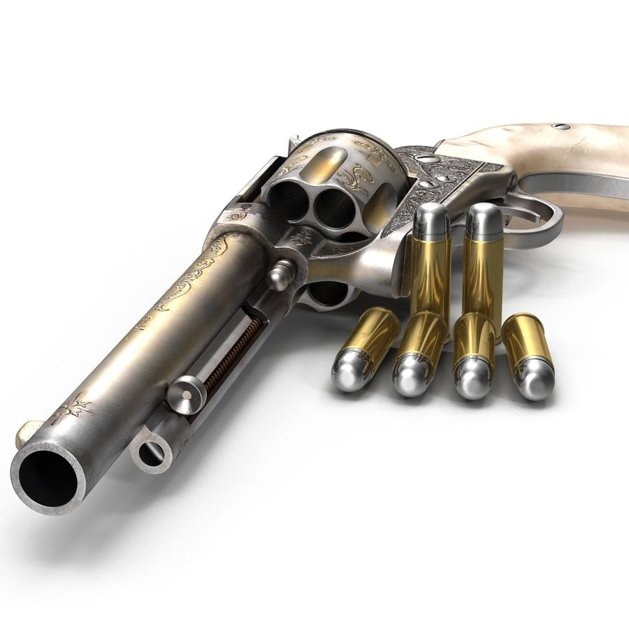 Revolvers-collectie royalty-free 3d model - Preview no. 22