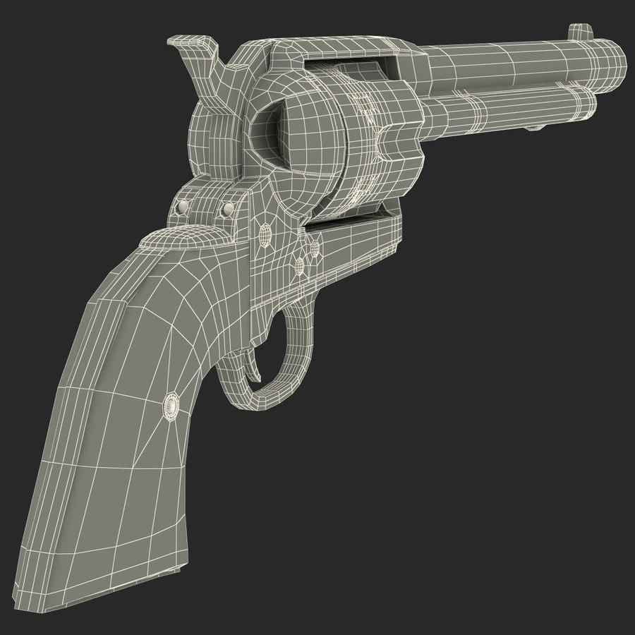 Revolvers-collectie royalty-free 3d model - Preview no. 86