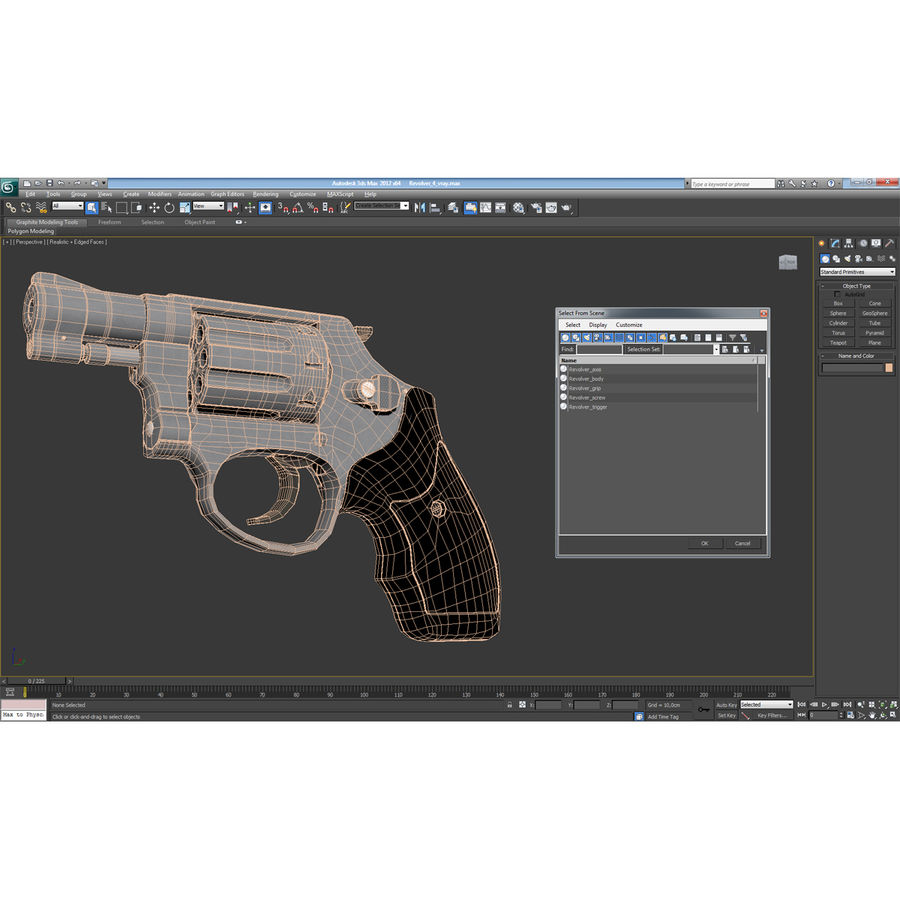 Revolvers-collectie royalty-free 3d model - Preview no. 78