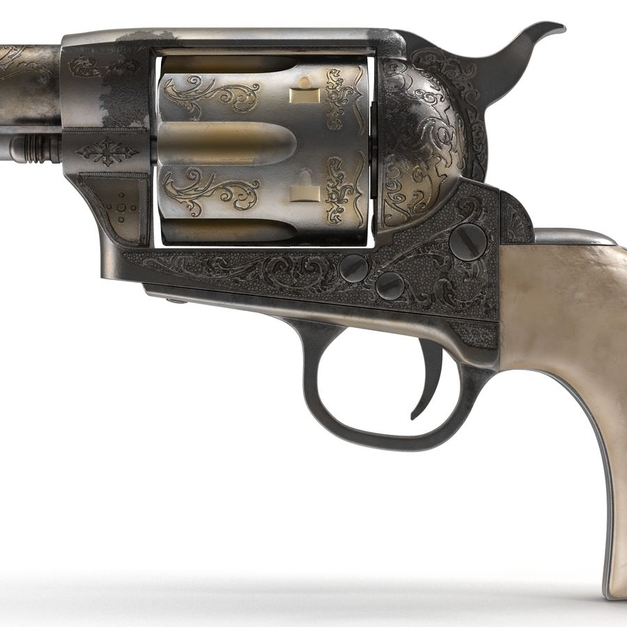 Revolvers-collectie royalty-free 3d model - Preview no. 15